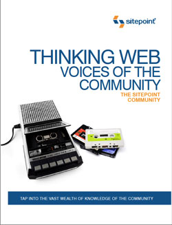 Thinking Web: Voices of the Community (book cover)