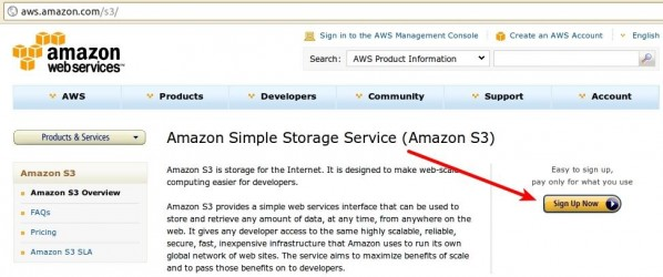 Simple Storage Service page