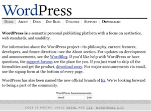 WordPress Early Days