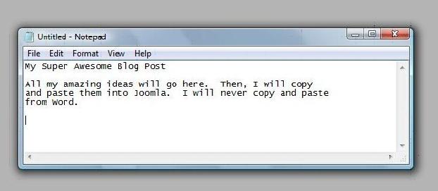 post formatting