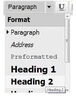 format headings