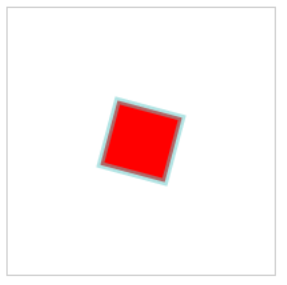 Figure 5 Red, Rotated, Stroked Rectangle Drawn with Fabric