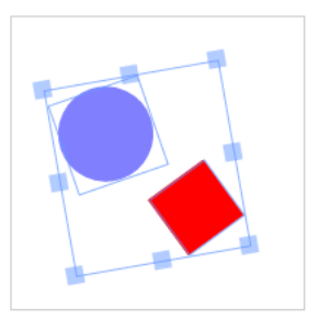 Figure 8 Rectangle and Circle Grouped (Controls Visible)