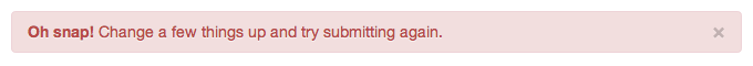 error notice