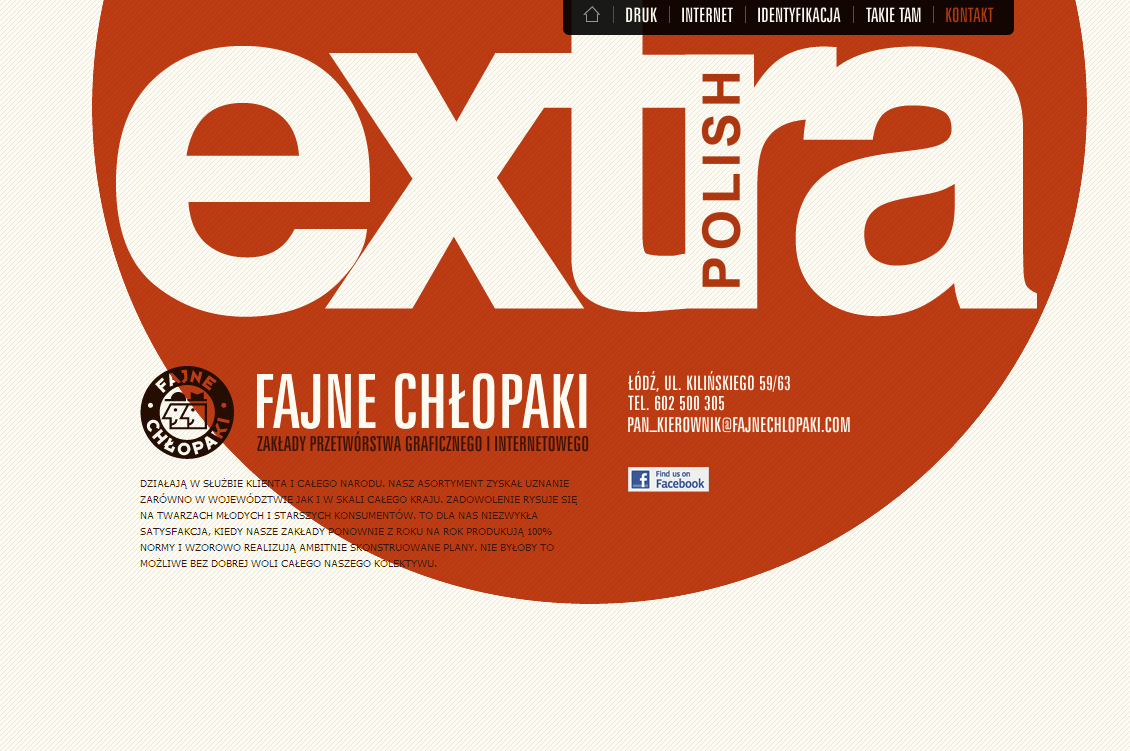 Screenshot: Fajne Chlopaki dotcom