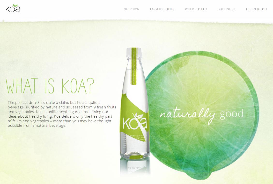Screenshot: Drink Koa Dotcom