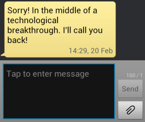 The SMS Response Received