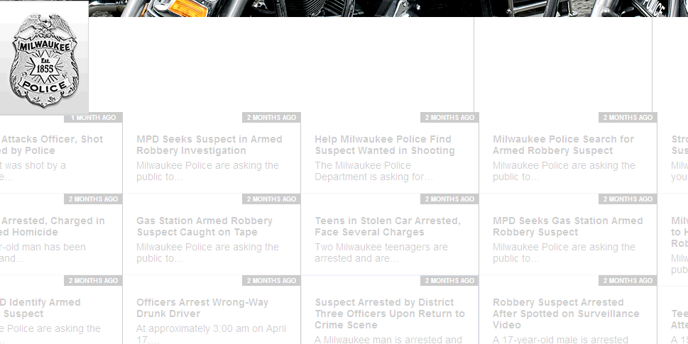 Horizontal news items