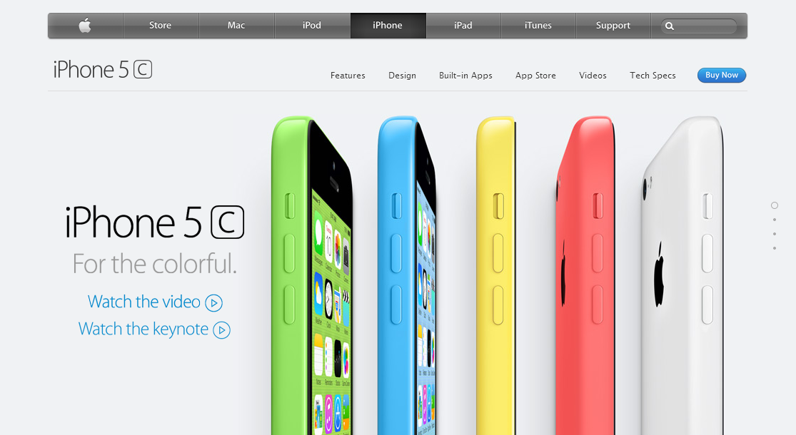 Apple product preview screenshot