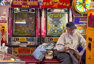 Old man and Pacman machines