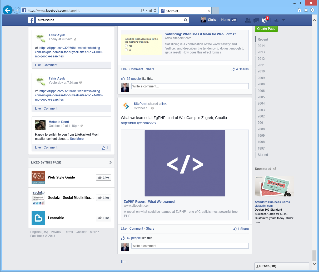 Facebook implemented infinite scroll long ago