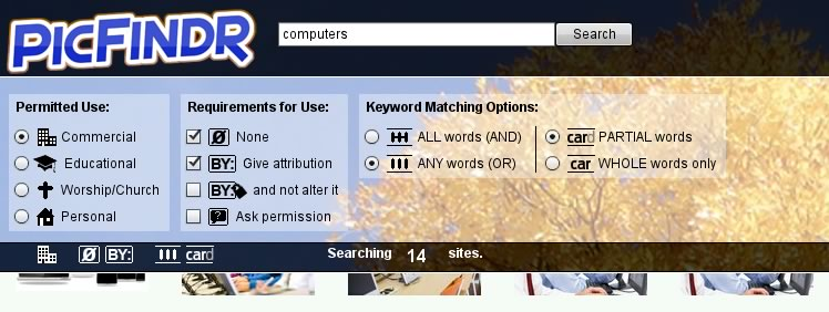 PicFindr-Search-Options