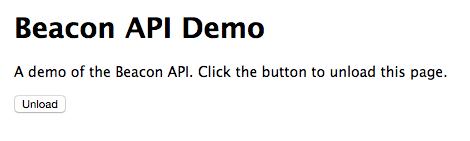 Beacon API demo screenshot