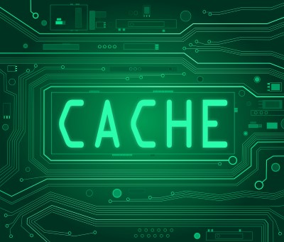 Abstract image with cache text
