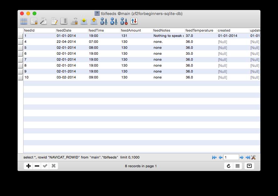 The Navicat Lite database tool