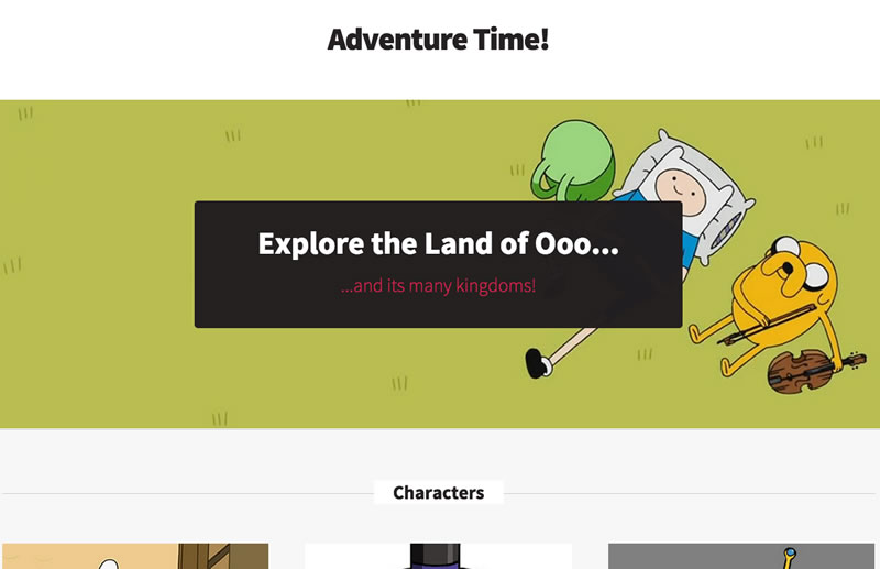 Sample Adventure Time! Site