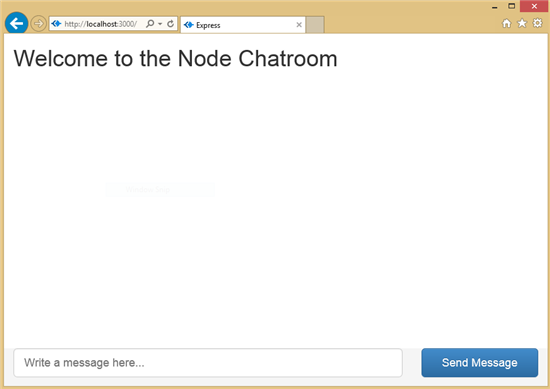 Final Screenshot for the BootStrap UI for the Node.js Chatroom