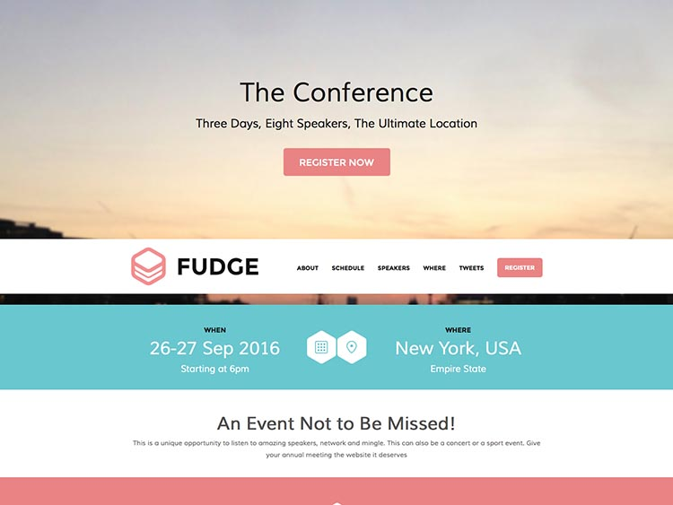Event Theme Fudge