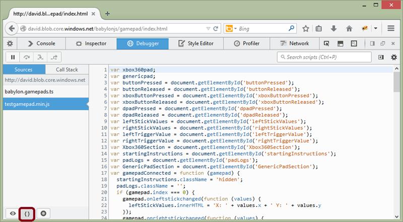 Minified File in Firefox