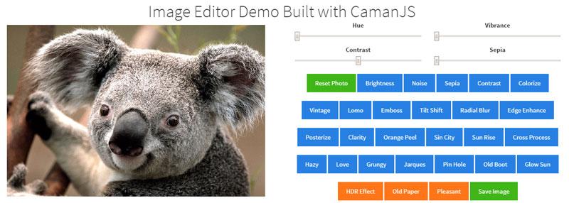 CamanJS Demo