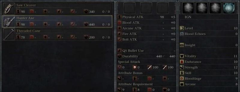 Bloodborne: Inventory
