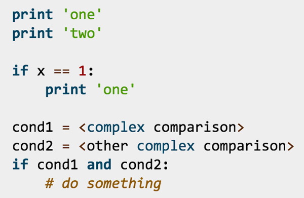 example of Python style
