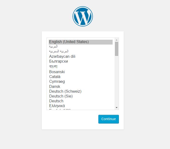WordPress configuration wizard