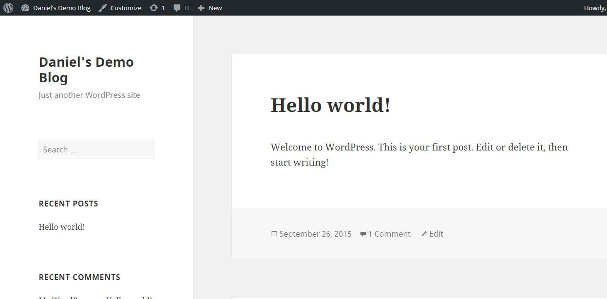 WordPress launched