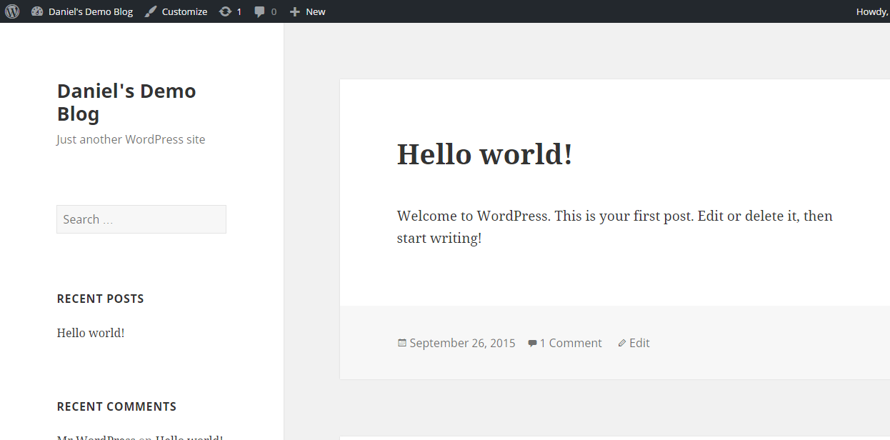 Z-Ray enabled on WordPress