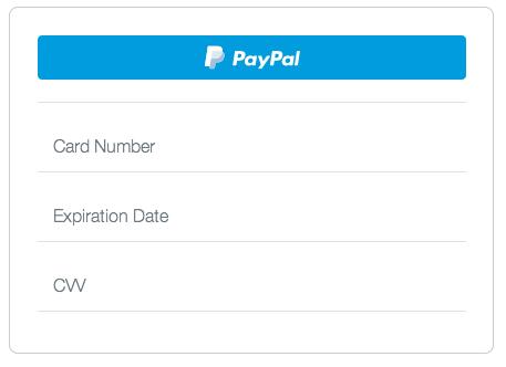 Braintree PayPal form