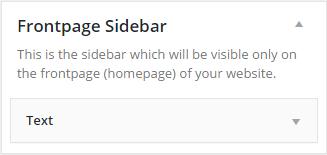 Adding a Frontpage Sidebar