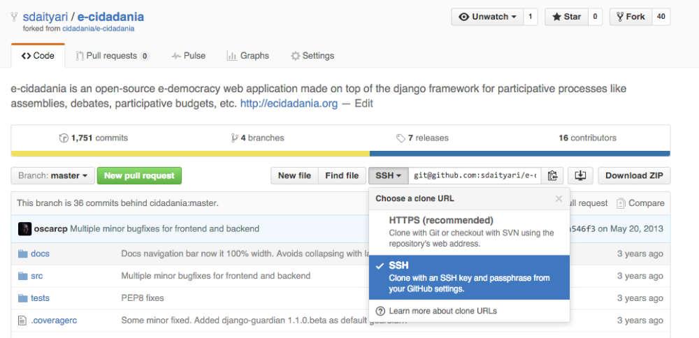 e-Cidadania's fork on your profile