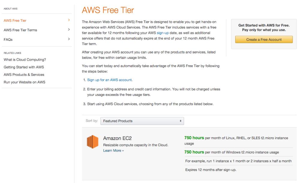 AWS Free Tier usage
