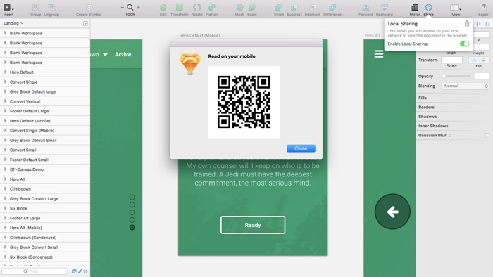 Sending QR codes instead of URL's