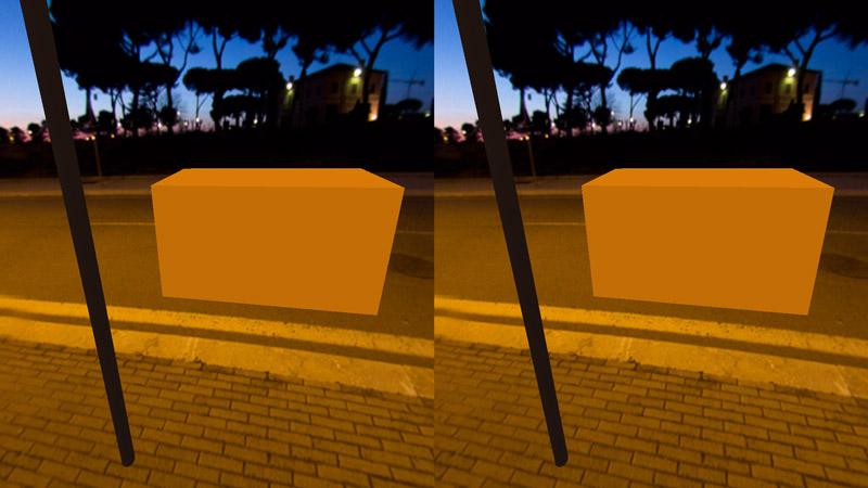 Our scene in mobile VR