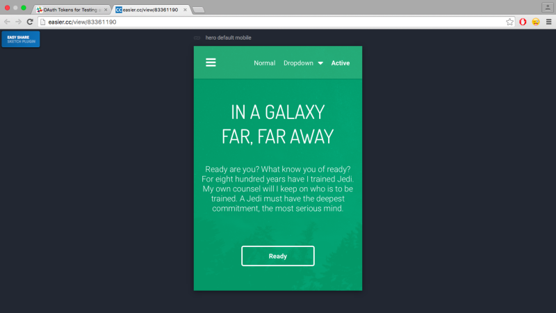 Previewing the artboard in the browser