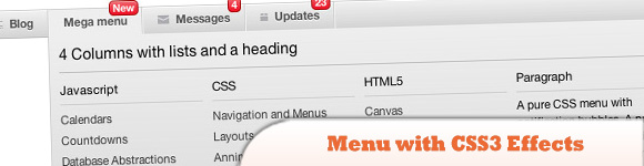Menu with CSS3 Effects