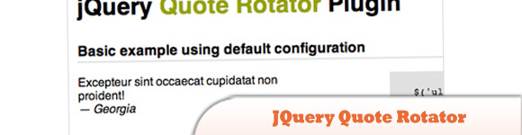 JQuery Quote Rotator