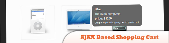 AJAX Based Shopping Cart