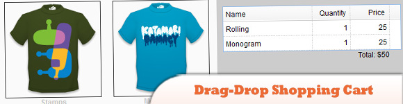 drag-drop shopping cart