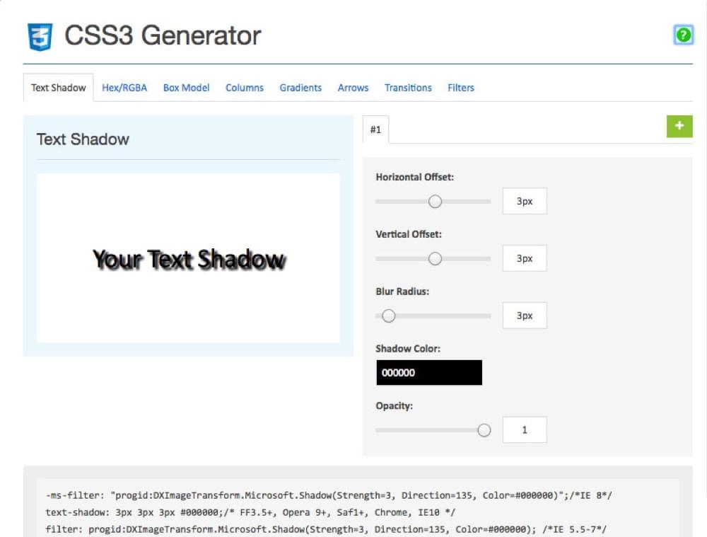 CSS3 Generator Chrome Extension