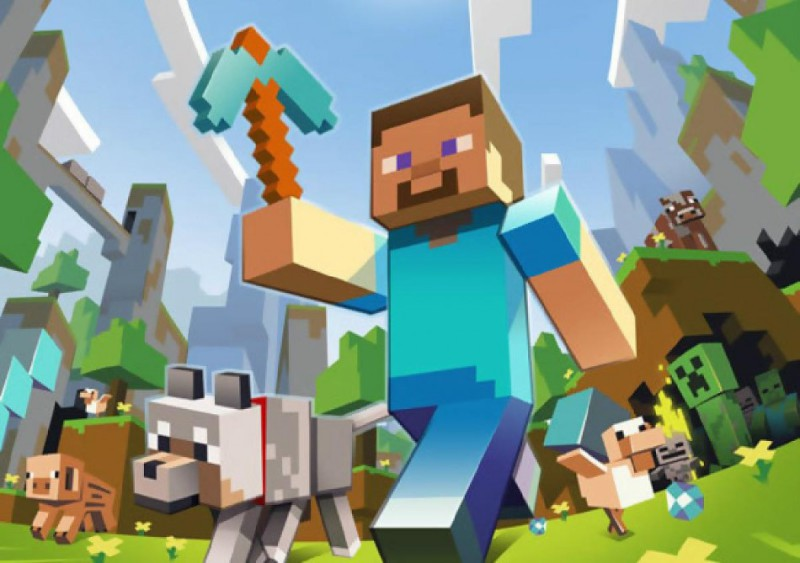 Minecraft splash screen