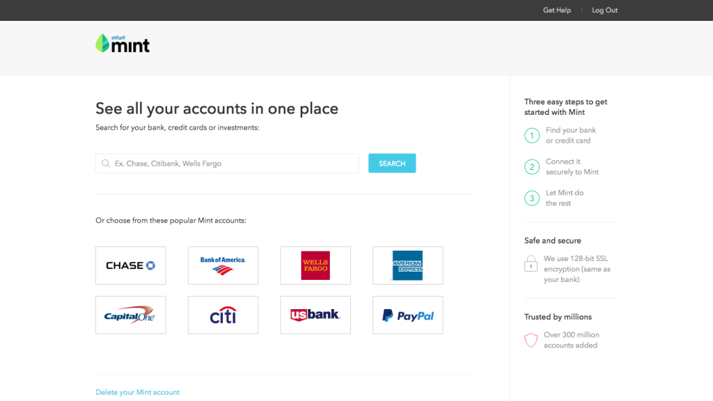 Screen Connect bank accounts