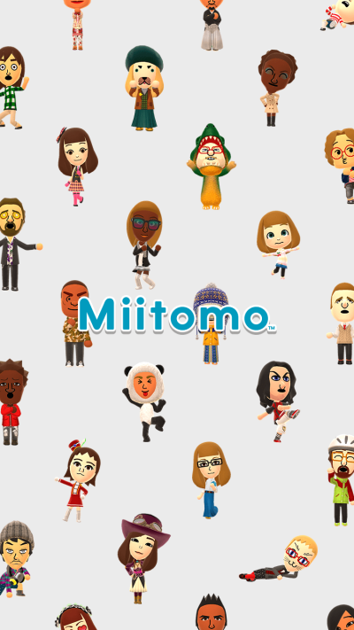 The iOS Miitomo initial launch screen