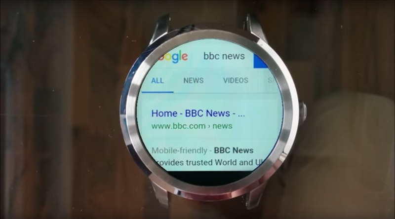 The Android Wear web browser from appfour