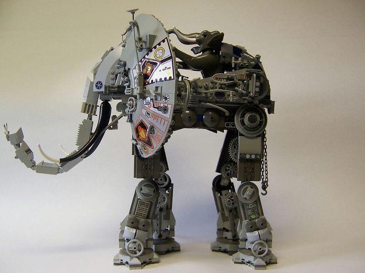 A robot elephpant