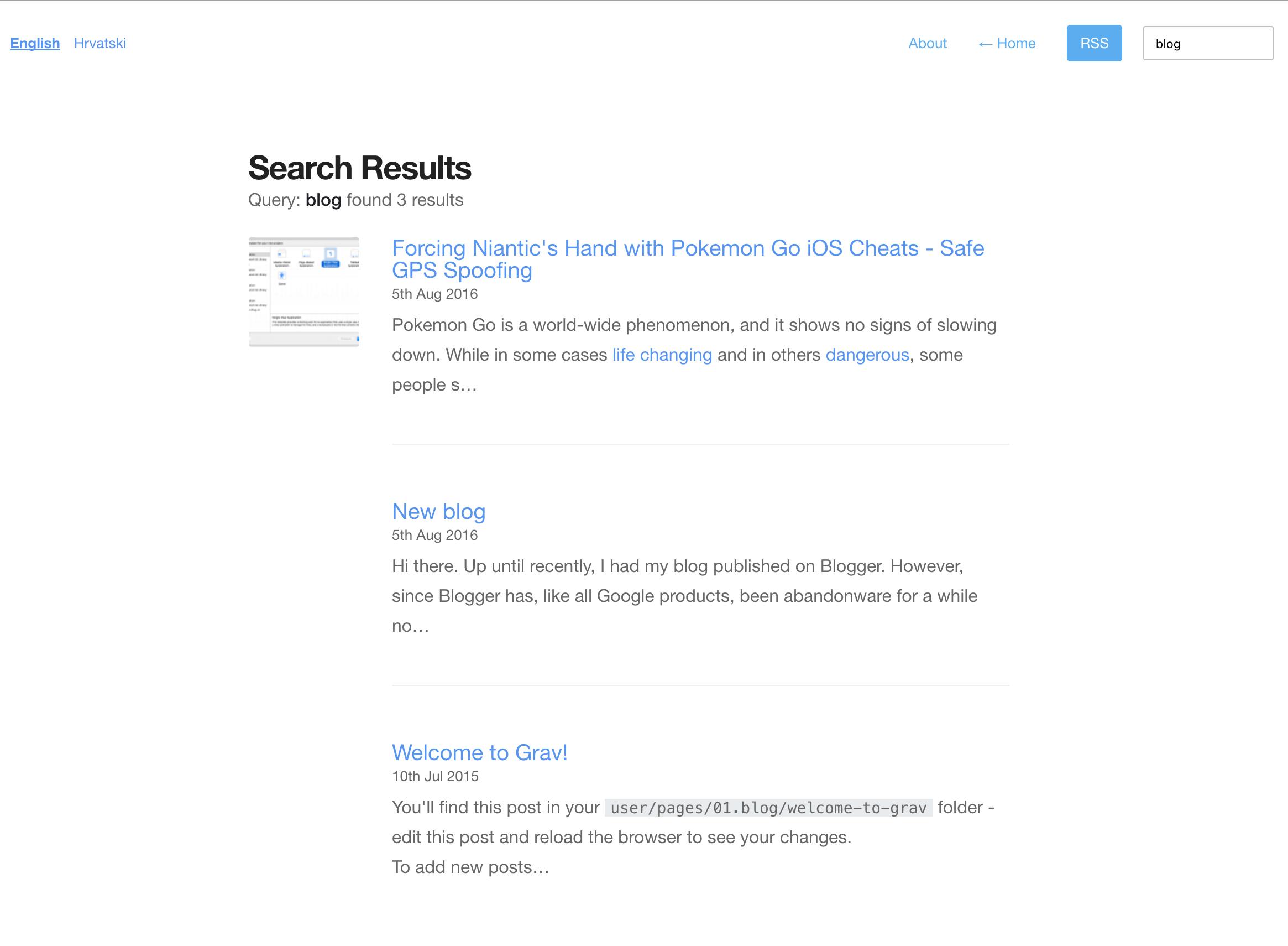 Search implementation on bitfalls.com