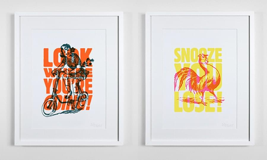 illustrated playful typography