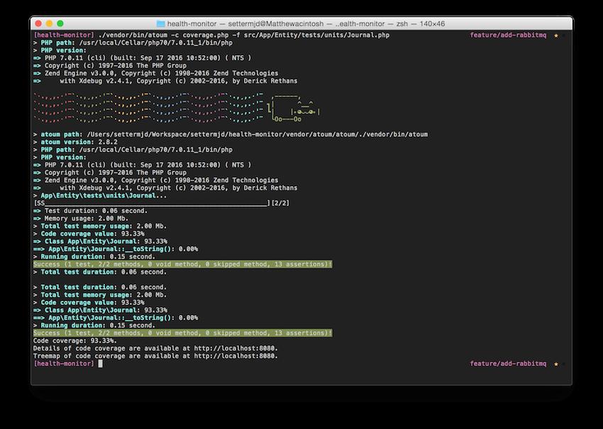 Running atoum tests with NyanCat