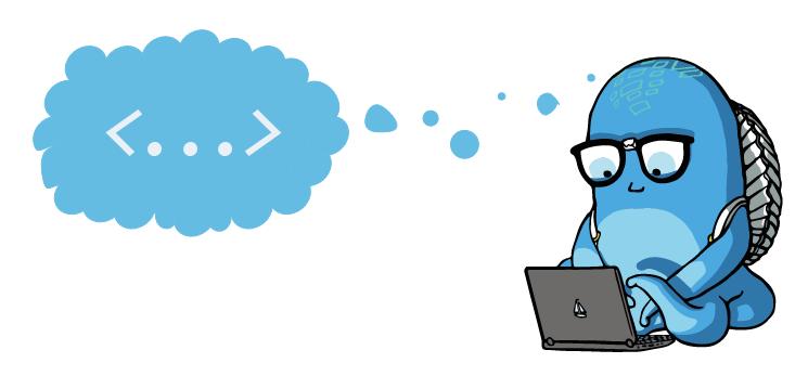 Deepstream Mascot Elton typing
